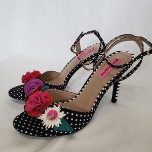 Betsey Johnson embellished floral Jaime heels shoe